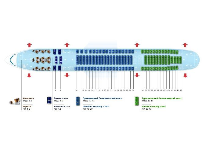 Схема пассажирских мест Boeing 757-200