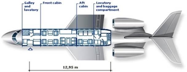 Схема пассажирских мест Bombardier Global