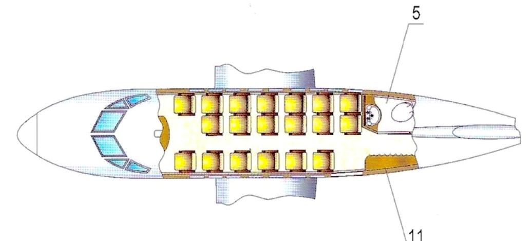 Схема пассажирских мест let L-410