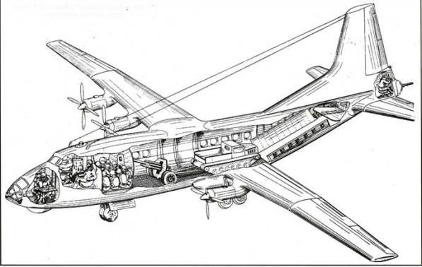 Схема самолета Ан-12